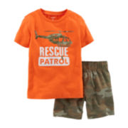 Carter's® Graphic Tee and Camo Shorts Set - Baby Boys newborn-24m