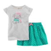 Carter's® Graphic Tee and Skort Set - Baby Girls newborn-24m