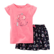 Carter's® Graphic Tee and Skort Set - Baby Girls newborn-24m