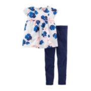Carter's® Floral Tunic and Leggings Set - Baby Girls newborn-24m