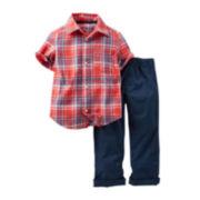 Carter's® Plaid Shirt and Pants Set - Toddler Boys 2t-5t