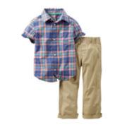 Carter's® Plaid Shirt and Khaki Pants Set - Toddler Boys 2t-5t