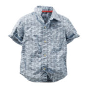Carter's® Fish-Print Woven Shirt - Preschool Boys 4-7