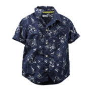 Carter's® Sail-Print Woven Shirt - Preschool Boys 4-7