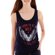 Americana Lace-Back Graphic Tank Top