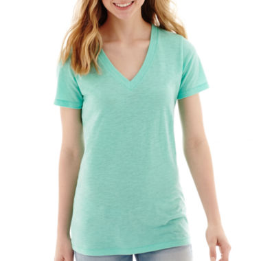 jcpenney.com | Arizona Short-Sleeve V-Neck T-Shirt - Juniors