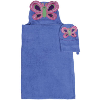 jcpenney.com | Butterfly Hooded Towel and Wash Mitt Set