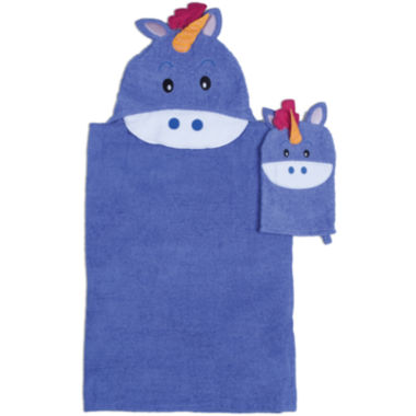 jcpenney.com | Unicorn Hooded Towel and Wash Mitt Set
