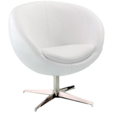 jcpenney.com | Jackie White Bonded Leather Round-Back Chair
