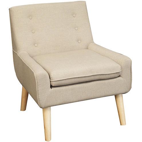 Spencer Tufted Fabric Retro Chair