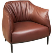 Valentino Bonded Leather Accent Chair