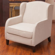Billy Natural Fabric Club Chair