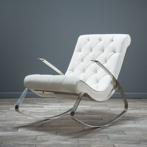 Roosevelt Tufted Bonded Leather Rocking Chair