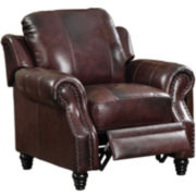 Princeville Faux-Leather Pushback Recliner
