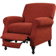 Sneeds Pushback Recliner - Wine Red Chenille