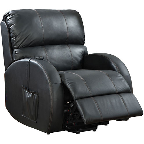 Greenbrook Power Lift Faux-Leather Recliner