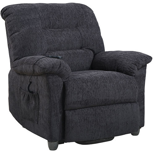 Gin Power Lift Chenille Recliner