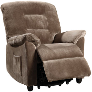 jcpenney.com | Jonnaville Power Lift Padded Velvet Recliner