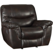 Greenfield Faux-Leather Glider Recliner
