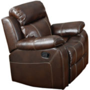 Millee Faux-Leather Glider Recliner