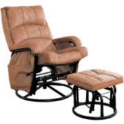 Georgia Microfiber Glider with Ottoman