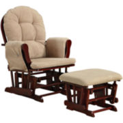 Gracewood Microfiber Glider with Ottoman