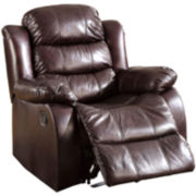 Brekenridge Faux-Leather Recliner