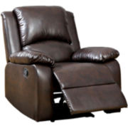 Solitare Faux-Leather Recliner