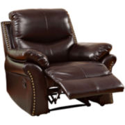 Dunlap Faux-Leather Recliner