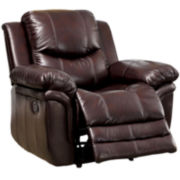 River Faux-Leather Recliner