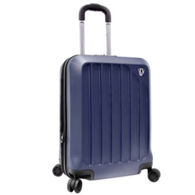 "jcpenney.com | Traveler's Choice® Glacier 21"" Hardshell Expandable Carry-On Spinner Luggage"