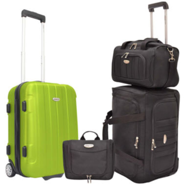 jcpenney.com | Traveler's Choice® Rome 4-Piece Carry-On Luggage Set
