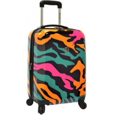 "jcpenney.com | Traveler's Choice® Colorful Camouflage 21"" Carry-On Spinner Luggage"