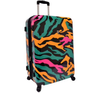 "jcpenney.com | Traveler's Choice® Colorful Camouflage 29"" Expandable Spinner Luggage"