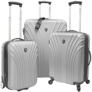 jcpenney.com | Traveler's Choice® 3-Piece Hardsided Ultra Lightweight Luggage Set