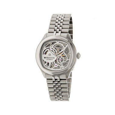jcpenney.com | Heritor Automatic Odysseus Mens Skeleton Dial Bracelet Silver Watches