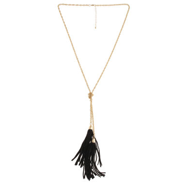 jcpenney.com | Mixit™ Gold-Tone Black Double Tassel Necklace