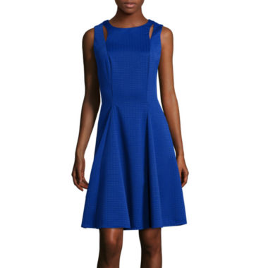 jcpenney.com | Danny & Nicole® Sleeveless Cutout Knit Jacquard Fit-and-Flare Dress