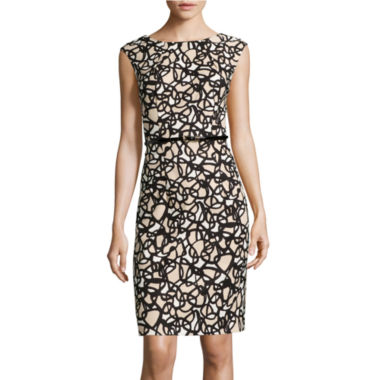 jcpenney.com | Alyx® Sleeveless Printed Splice Belted Sheath Dress
