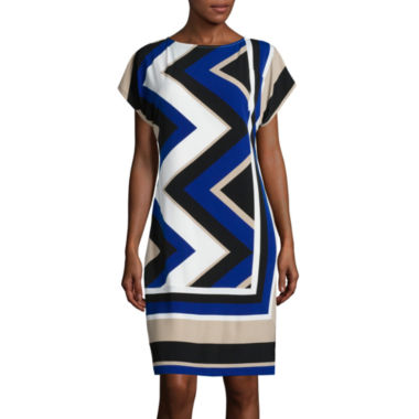 jcpenney.com | Studio 1® Dolman Chevron Shift Dress