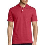 St. John's Bay® Short-Sleeve Slim-Fit Pocket Polo Shirt