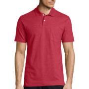 St. John's Bay® Short-Sleeve Slim-Fit Pocket Polo Shirt