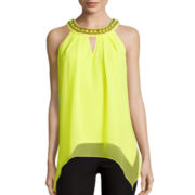 by&by Sleeveless Keyhole Hanky Top