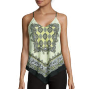 By & By Sleeveless Scarf Print Cami
