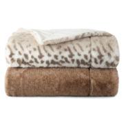 Liz Claiborne Serengeti Luxury Faux Fur Throw