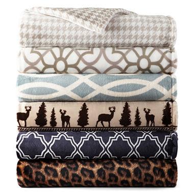 Jcpenney Home Velvet Plush Print Blanket