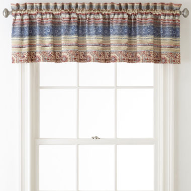 jcpenney.com | Home Expressions™ Baja Rod-Pocket Lined Valance