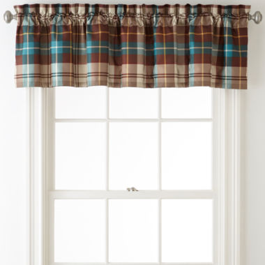 jcpenney.com | Home Expressions™ Decklan Plaid Rod-Pocket Lined Valance