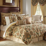 Croscill Classics® Tan Chenille Jacobean 4-pc. Comforter Set & Accessories