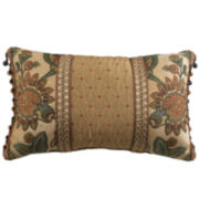 Croscill Classics® Tan Chenille Jacobean Boudoir Decorative Pillow